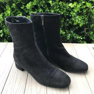 Aqualtalia Gail Black Quilted Suede Boots